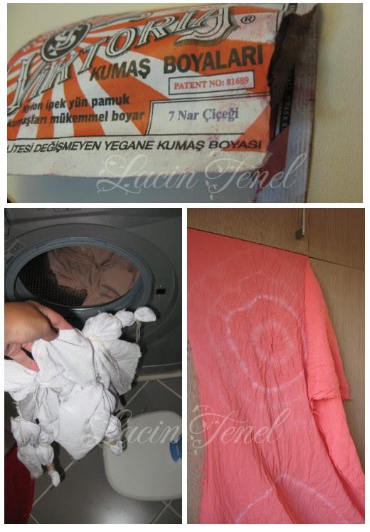 Laçin Tenel çamaşır Makinesinde Kumaş Boyama Ve Batik Yapımı