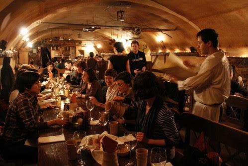 Inside 3 musketeers restaurant
