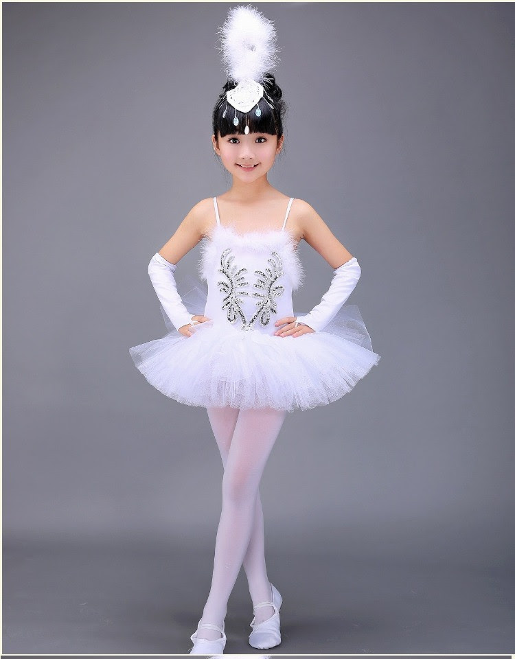 2019 white swan lake ballet costume summer tutu gymnastics