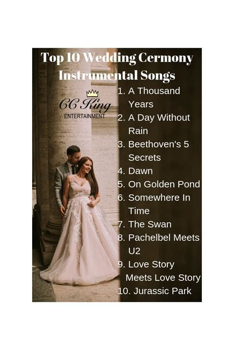 Wedding DJ Services   Our top instrumental wedding