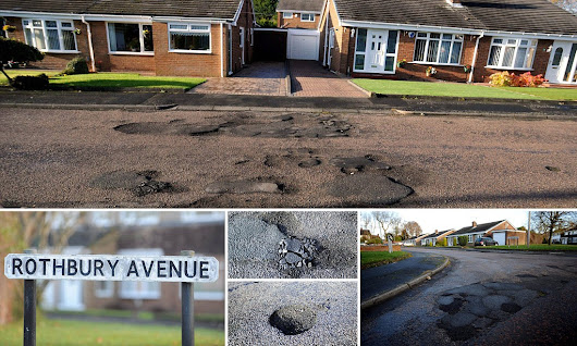 Is this Britain's WORST road? Street 94 yards long has 80 potholes
