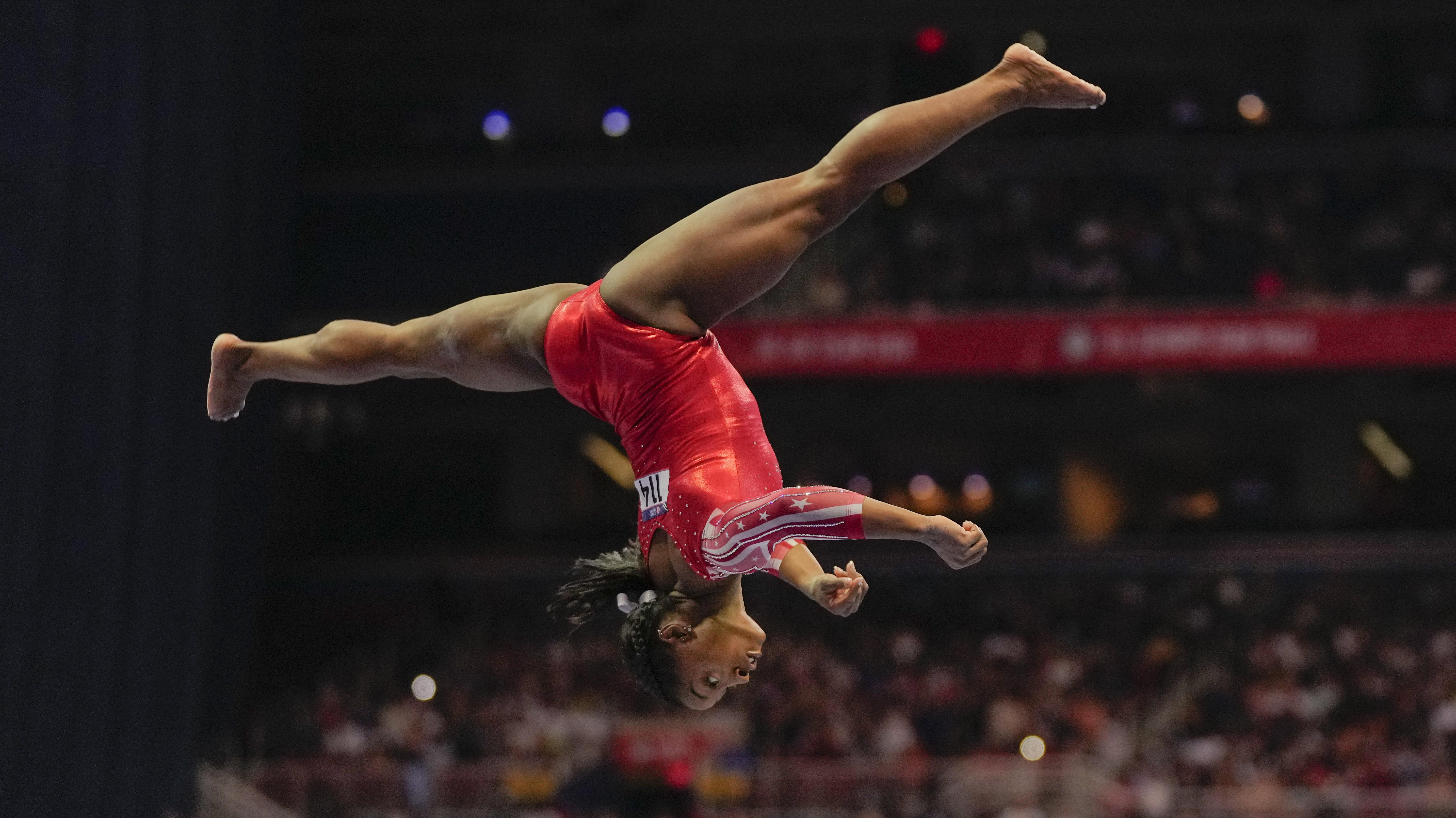 Digitale primeur voor Amerikaanse topturnster Simone Biles | Sport | Telegraaf.nl