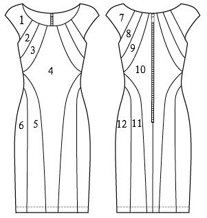 Butterick 5677 Line Drawing