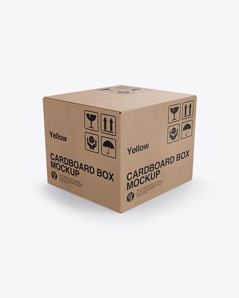 Download Cardboard Box PSD Mockup Half Side View | PSD Mockups Gỗ ...
