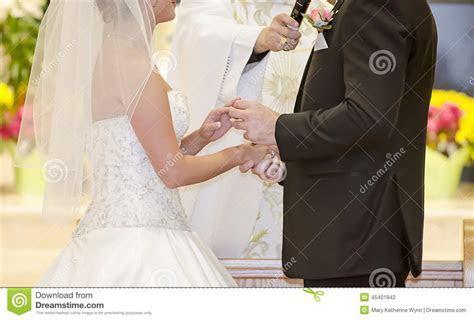 Wedding Ring Exchange Stock Photo   Image: 45401842