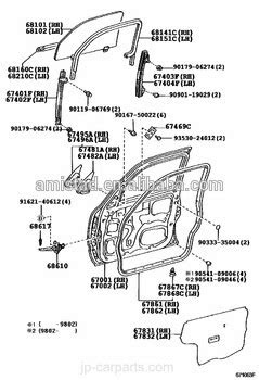 Auto Car Parts Front Door Assembly Oem 67002-35500 67001