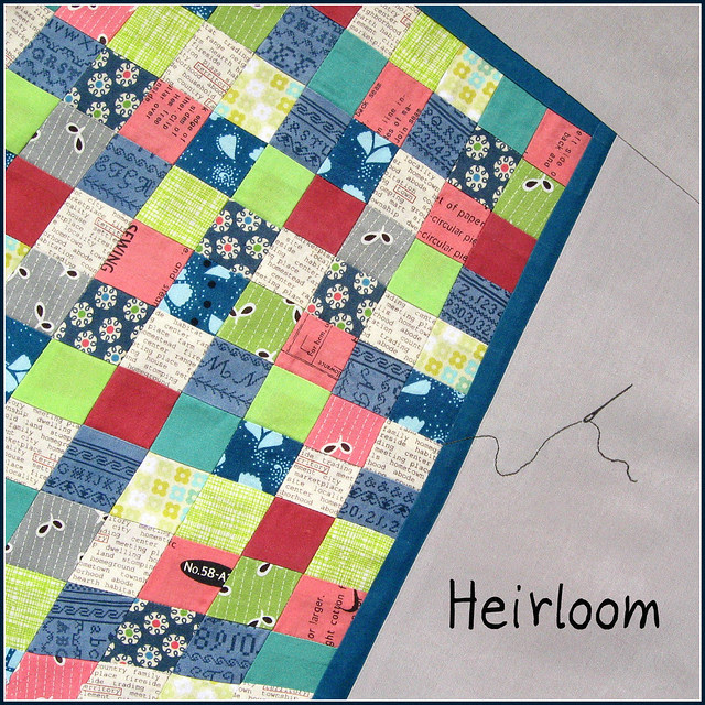 Sew Out Loud block 10:  Heirloom
