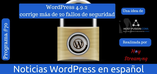 Actualización de seguridad WordPress 4 9 2