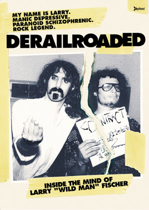 Derailroaded poster featuring Larry and Frank Zappa