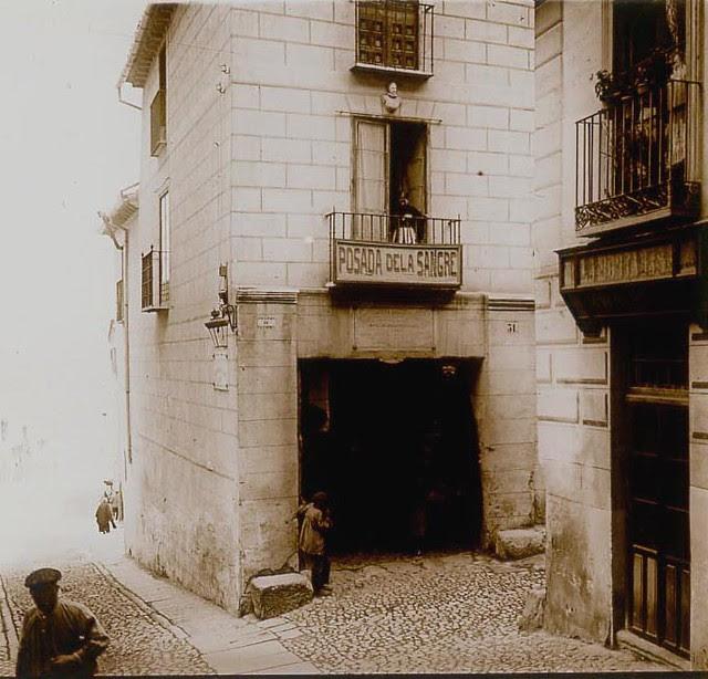 Posada de la Sangre en 1913. Fotografía de Luis Calandre Ibáñez