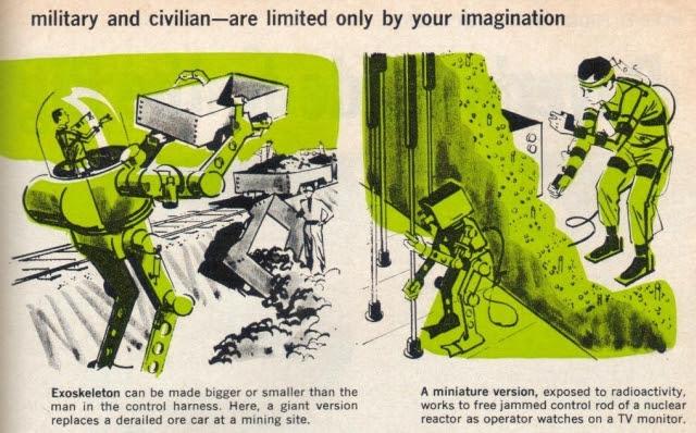 Exoskeleton uses p5 x640 1961 2   Cornell Aeronautical Labs Man Amplifier   Neil Mizen (American)