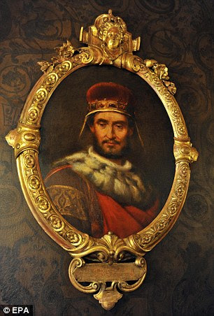 A portrait of Doge Pietro Orseolo, pictured left, is on display at the Hall of the Illustrious Men