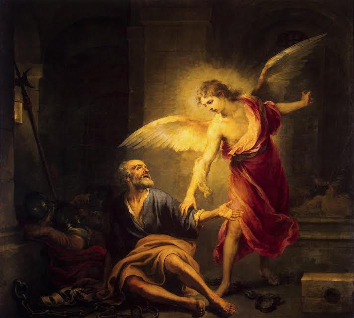 Αποτέλεσμα εικόνας για αγγελος και  ΠΕΤΡΟΥ ΣΤΗ ΦΥΛΑΚΗ