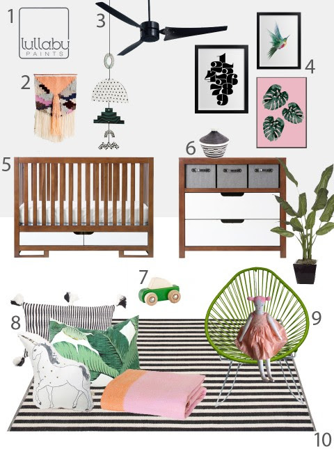 My Modern Nursery #107: Tropical Saltire Nursery Sponsored by Lullaby Paints «