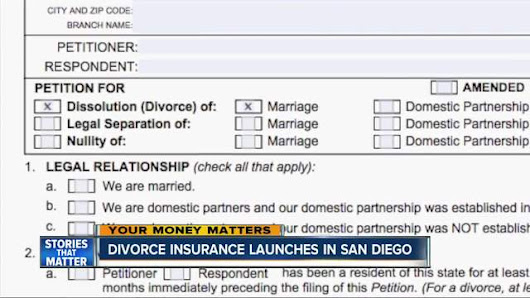 Divorce insurance launches in San Diego