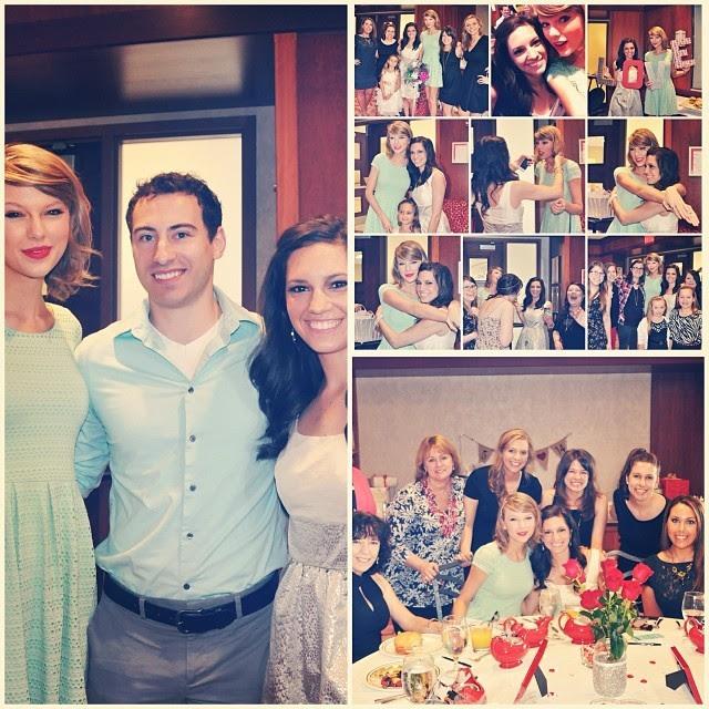 Gena Gabrielle com o noivo e Taylor Swift (Foto: Reprodução/Instagram)