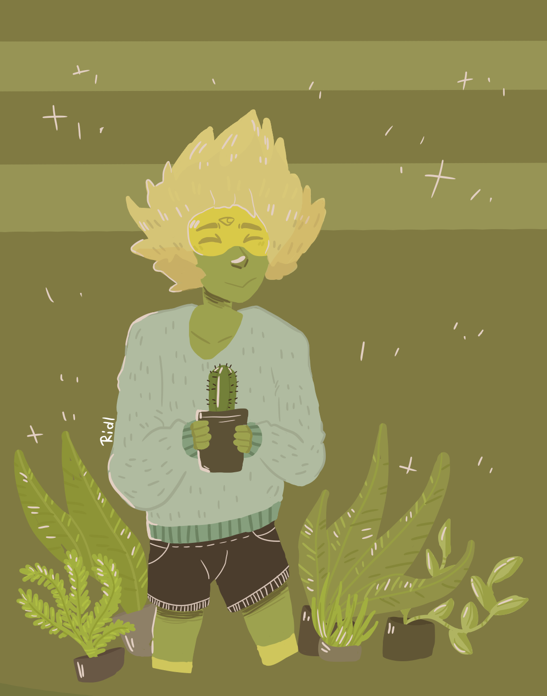 Peridot and plants, it's canon now, ok