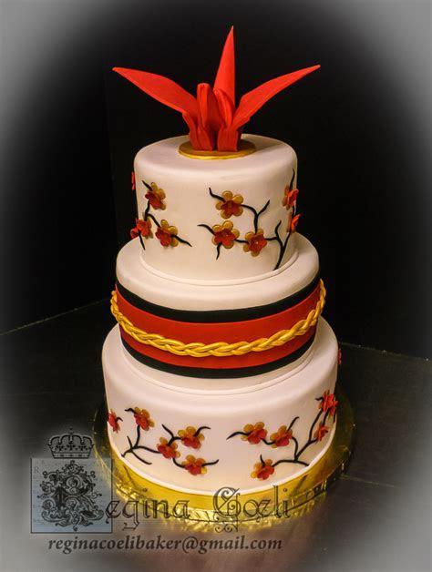 Japanese Origami Crane Wedding Cake   CakeCentral.com