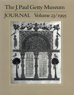 The J. Paul Getty Museum Journal: Volume 23/1995