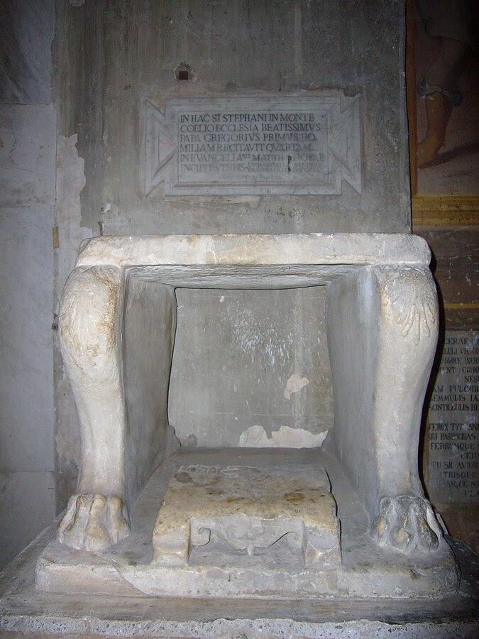 File:Celio - s Stefano Rotondo cattedra di Gregorio Magno 1040197.JPG