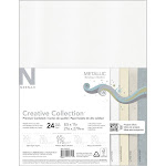 "Neenah Metallic Cardstock 8.5""x11"" 24-pkg-4 Colors-6 Each"