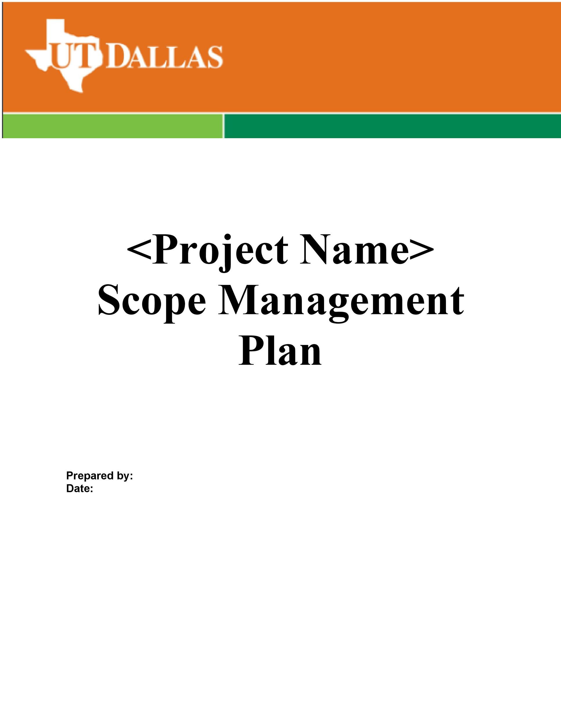 project scope example 19