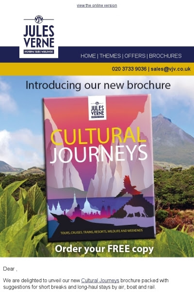 NEW 'Cultural Journeys' brochure! View online or download a copy