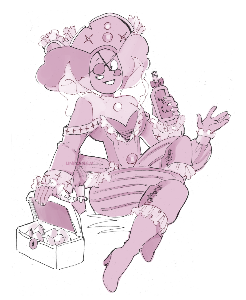 """30 Day Magical Girl Drawing Challenge - Day #18: Pirate "" Rhodonite"