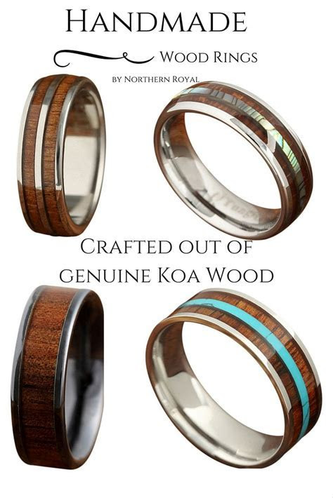 Handmade Wood Wedding Rings! Some of these wood rings are