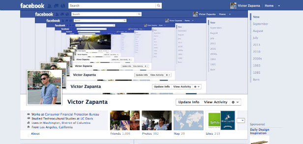timeline1 40 Creative Examples of Facebook Timeline Designs
