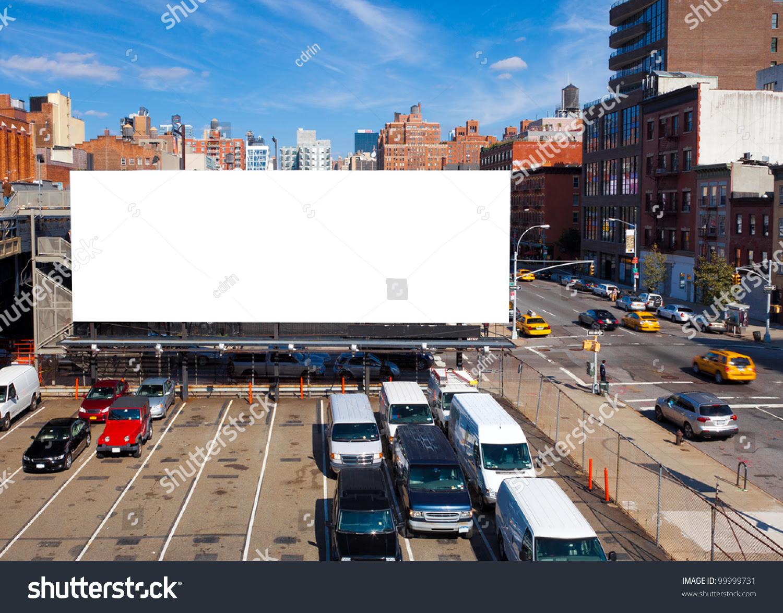 Empty Blank Billboard New York City Stock Photo 99999731 ...