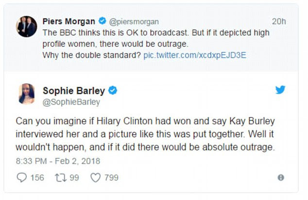 Piers retweeted a number of supportive voices throughout yesterday evening and this morning