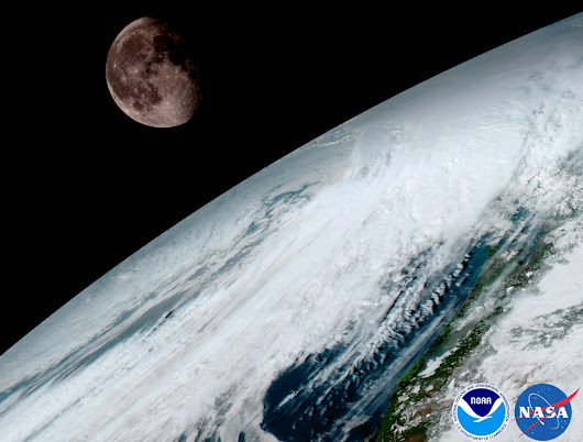 Satellite's 1st Views of Earth (and Moon) Are Jaw-Dropping