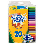 Crayola Llc Formerly Binney & Smith BIN588106 Washable Markers 20Ct Super Tips