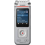 Philips - VoiceTracer Audio Recorder - Silver/Chrome