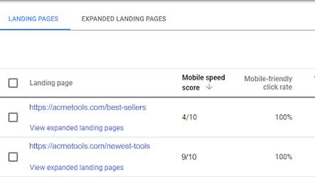 Advertisers can now view Google mobile speed scores for more landing pages - Search Engine Land