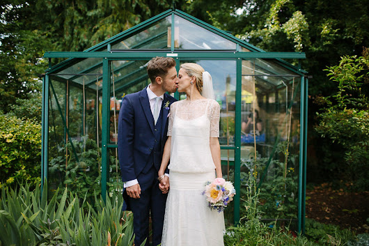 Dropped Waist Stephanie Allin Elegance for a Charming English Country Garden Wedding