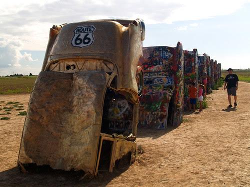 Route 66 at Cadillac Ranch