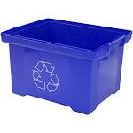 Storex XL Recycling Bin, Blue, 9 Gallon