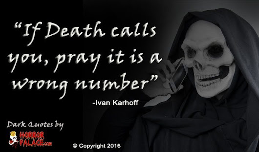 If Death Calls You... (Dark Quote) | HORROR PALACE™