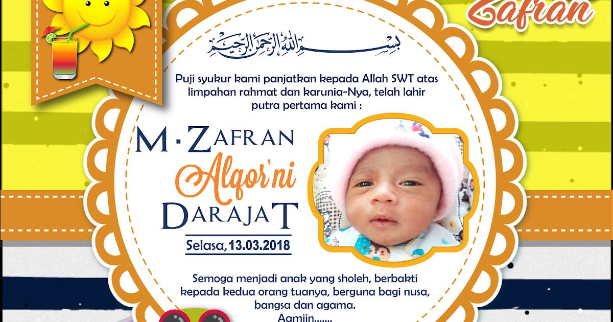 Download Kartu Ucapan Aqiqah Pdf - Kartu Undangan