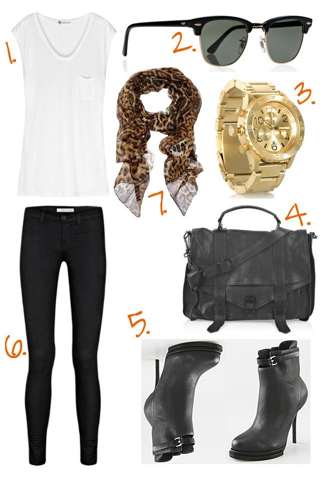 Yves Saint Laurent, Proenza Schouler, Alexander Wang, Gold Nixon Watch, Fashion Outfit