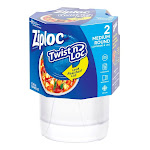 Ziploc Twist N Lock 32 oz. Food Storage Container 2 pk Clear - Pack of 1