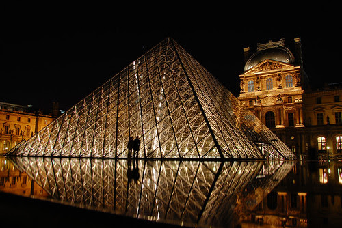 Louvre by night