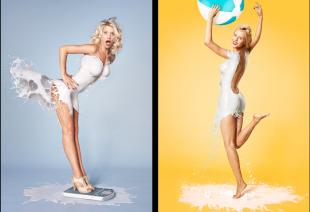 Modelos bañadas en leche, no aptas para alérgicos a la lactosa