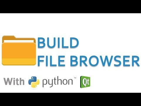 Create file browser in python and Qt (PyQt or PySide