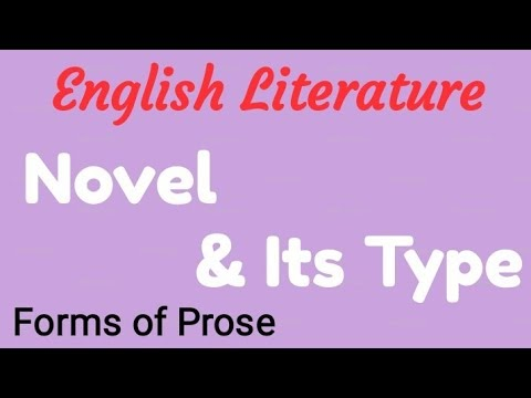 Types of Novel in English Literature PDF