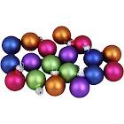 "18-Piece Multi-color Vibrant Glass Ball Christmas Ornament Set 1.25"""