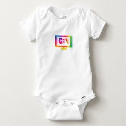 C:\ Nerds and Geeks Rejoice ! Baby Onesie
