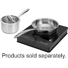 "Insignia - 12"" Modular Electric Induction Cooktop - Black"